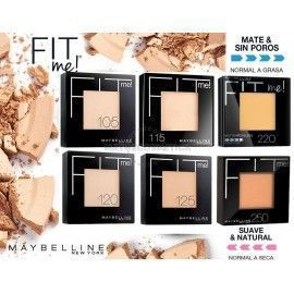 6 Uds x MAYBELLINE FIT ME POLVO COMPACTO - 6 TONOS (MIX 1)
