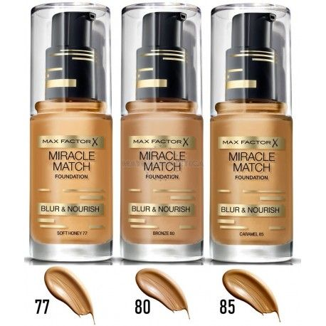 6 Uds x MAX FACTOR MIRACLE MATCH MAQUILLAJE - 3 TONOS