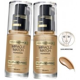 6 Uds x MAX FACTOR MIRACLE MATCH MAQUILLAJE - 1 TONO