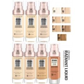 8 Uds x MAYBELLINE DREAM RADIANT LIQUID MAQUILLAJE - 7 TONOS