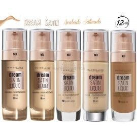 7 Uds x MAYBELLINE DREAM RADIANT LIQUID MAQUILLAJE - 5 TONOS