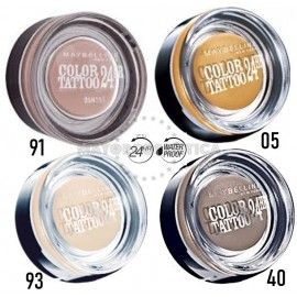 8 Uds x MAYBELLINE COLOR TATTOO 24H WP SOMBRA - 4 TONOS