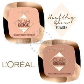 5 uds x L'OREAL GLAM BEIGE POLVO COMPACTO - 2 TONOS