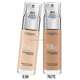 5 Uds x L'OREAL PERFECT / TRUE MATCH MAQUILLAJE - 2 TONOS