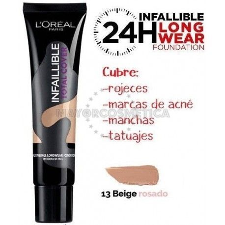 7 Uds x L'OREAL INFALLIBLE TOTAL COVER MAQUILLAJE - 1 TONO