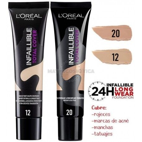 5 uds x L'OREAL INFALLIBLE TOTAL COVER MAQUILLAJE - 2 TONOS