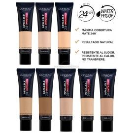 8 uds x L'OREAL INFALLIBLE 24H MATTE-COVER MAQUILLAJE - 8 TONOS