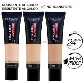 7 uds x L'OREAL INFALLIBLE 24H MATTE-COVER MAQUILLAJE - 3 TONOS
