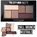 3 Uds x MAYBELLINE THE CITY MINI PALETA SOMBRAS - CHILL BRUNCH