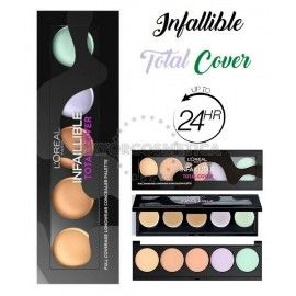 3 Uds x L'OREAL INFALLIBLE TOTAL COVER PALETA CORRECTORES