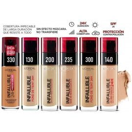 9 uds x L'OREAL INFALLIBLE 24H MAQUILLAJE - 6 TONOS