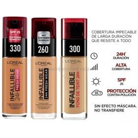 5 uds x L'OREAL INFALLIBLE 24H MAQUILLAJE - 3 TONOS