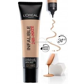 5 uds x L'OREAL INFALLIBLE 24H-MATE MAQUILLAJE - 1 TONO