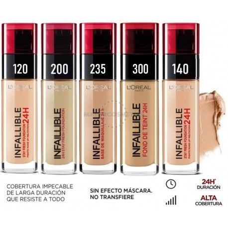 6 uds x L'OREAL INFALLIBLE 24H MAQUILLAJE - 5 TONOS