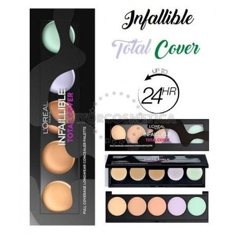 7 Uds x L'OREAL INFALLIBLE TOTAL COVER PALETA CORRECTORES