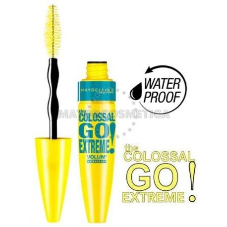 6 Uds x MAYBELLINE COLOSSAL GO EXTREME WATERPROOF MASCARA - NEGRO