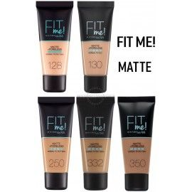 7 Uds x MAYBELLINE FIT ME MAQUILLAJE - 5 TONOS