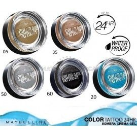 6 Uds x MAYBELLINE COLOR TATTOO 24H WP SOMBRA - 5 TONOS