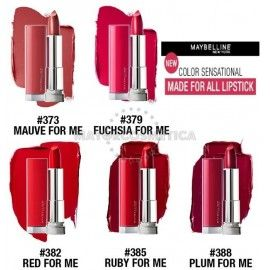 6 Uds x MAYBELLINE MADE FOR ALL PINTALABIOS - 5 TONOS