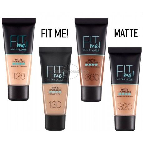 7 Uds x MAYBELLINE FIT ME MAQUILLAJE - 4 TONOS