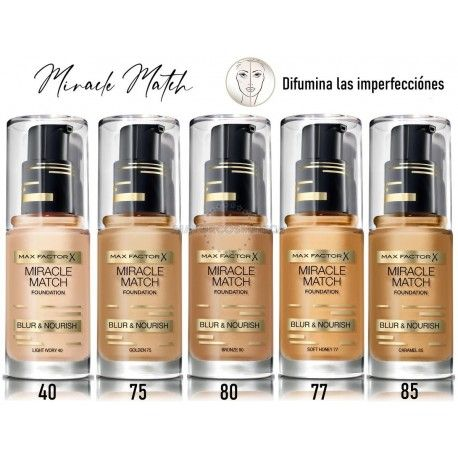 7 Uds x MAX FACTOR MIRACLE MATCH MAQUILLAJE - 5 TONOS