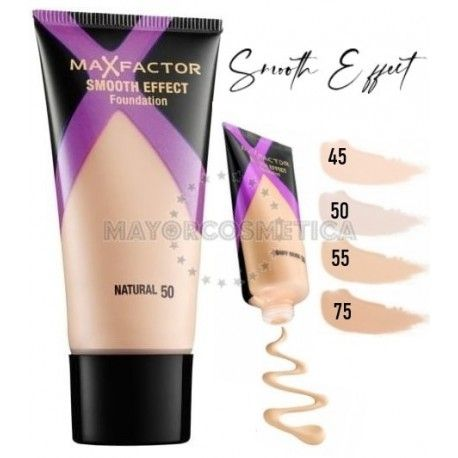 7 Uds x MAX FACTOR SMOOTH EFFECT MAQUILLAJE - 4 TONOS