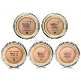 6 Uds x MAX FACTOR MIRACLE TOUCH MAQUILLAJE - 5 TONOS
