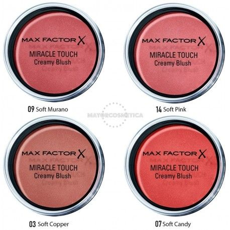 7 Uds x MAX FACTOR MIRACLE TOUCH CREAMY COLORETE - 4 TONOS
