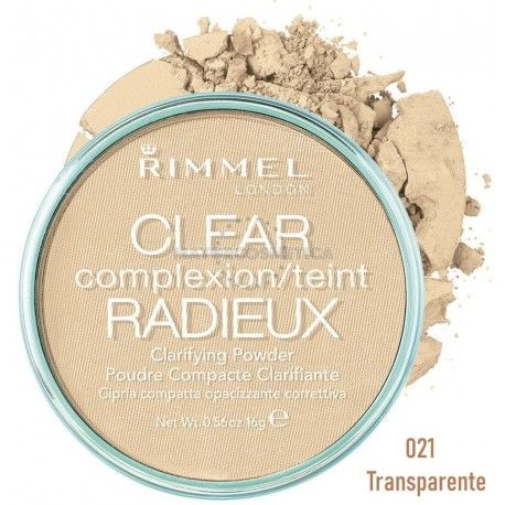 5 Uds x RIMMEL CLEAR RADIEUX POLVO COMPACTO - UNIVERSAL
